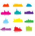castle silhouettes vector image vector image