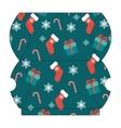 Christmas gift box template vector image vector image