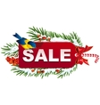 Christmas sale label template vector image vector image