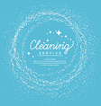 Conceptual poster and the logo for cleaning Linear vector image vector image