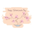 Cute heart tree Happy Valentines Day design vector image vector image
