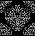 damask embroidery floral seamless pattern vector image