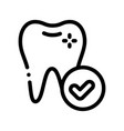 dentist stomatology healthy tooth icon vector image vector image