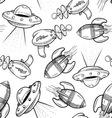 doodle retro scifi pattern seamless vector image vector image