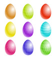 easter eggs with a texture vector image vector image