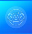 efficiency icon for web linear vector image vector image