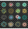 Festive Fireworks On Dark Transparent Background vector image