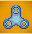 fidget finger spinner modern stress relieving toy vector image