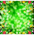 Floral background with bokeh defocused lights vector image