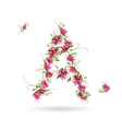 Floral letter A for your design vector image vector image