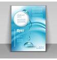 flyer with drops of pure water vector image vector image