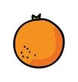 fresh orange isolated icon design vector image vector image