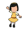girl school student cartoon young cheerful cartoon vector image
