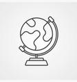 globe icon sign symbol vector image vector image
