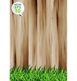Grass over wood fence background vector | Price: 1 Credit (USD $1)