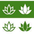 Green Lotus Plant Icon Set Logo vector image vector image