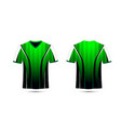 green white and black layout e-sport t-shirt vector image vector image
