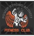 GYM Bodybuilding - emblem vector image