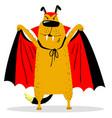 halloween dog character in costume of vampire vector image vector image