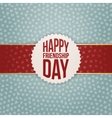 Happy Friendship Day realistic Tag on red Ribbon vector image vector image