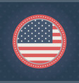happy memorial day badge flag frame blue vector image vector image