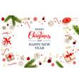 holiday christmas backdrop vector image vector image