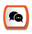 icon dialogue vector image