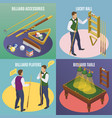 isometric billiards design concept vector image vector image