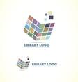 Library open book logo icon vector image