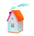 little summer country house or cottage vector image