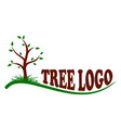 logo of the tree vector image vector image