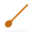 long wooden spoon flat isolated vector image vector image