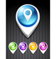 map pointer icon vector image vector image