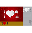 Menu of love vector image