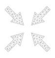 mesh compress arrows icon vector image vector image
