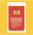 message briefcase mobile vertical banner design vector image vector image