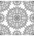 ornament with floral mandalas vector image