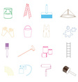 paint and room painter outline icons set eps10 vector image vector image