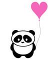 panda bear with balloon vector image