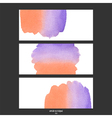 red and purple watercolor banner vector image vector image