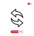 refresh reload icon vector image