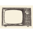 Retro Television Empty Screen Hand Drawn vector image vector image