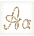 Rope alphabet Letter A