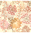Seamless floral retro background vector image