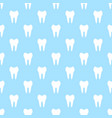 seamless geometric pattern with teeth vector image vector image