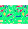 Seamless pattern with doodle children drawing vector image vector image