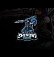 shinobi mascot sport logo design vector image vector image