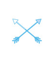 silhouette arrows in cross with pointer design vector image vector image
