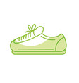 silhouette sneaker to practice exercise and train vector image vector image