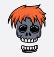 skull doodle color icon drawing sketch hand drawn vector image vector image